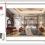 Thiết kế phòng ngủ phụ biệt thự lâu đài tại An Giang sh btld 0029