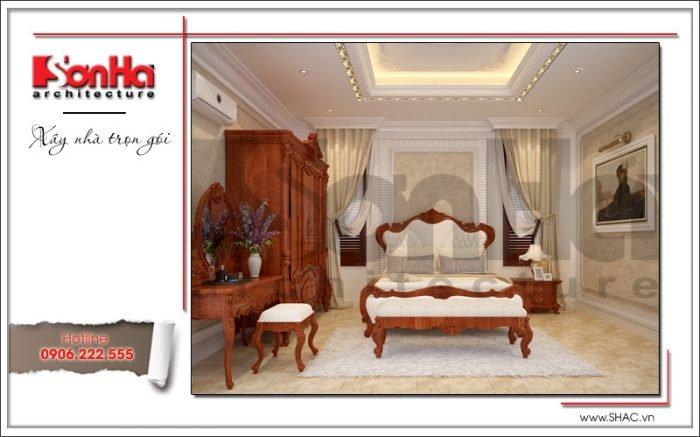 Mẫu Thiết kế phòng ngủ phụ biệt thự lâu đài tại An Giang sh btld 0029
