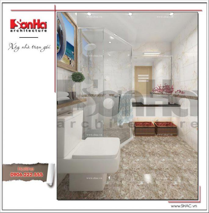 Mẫu thiết kế phòng tắm wc nhà ống hiện đại tại Hà Nội sh nod 0175