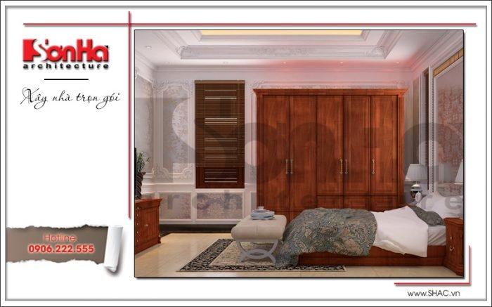 Thiết kế nội thất phòng ngủ biệt thự lâu đài tại An Giang sh btld 0029