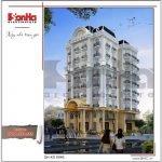 Mẫu Thiết kế kiến trúc khách sạn kiến trúc Pháp tại Vĩnh Phúc sh ks 0040