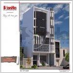 Mẫu kiến trúc tòa nhà văn phòng tại Hà Nội sh vp 0030
