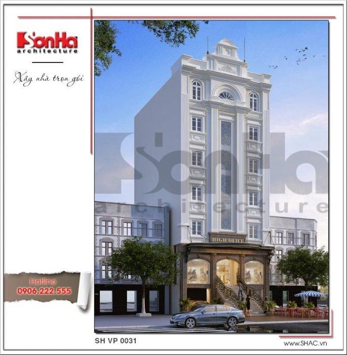 Mẫu Thiết kế kiến trúc tòa nhà văn phòng tại Sài Gòn sh vp 0031