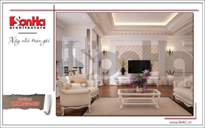 nội thất phòng khách cổ điển căn hộ cao cấp ciputra