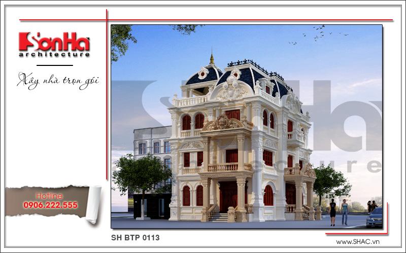 Mẫu biệt thự lâu đài cổ điển 4 tầng uy nghi và đẳng cấp tại Quảng Ninh – SH BTP 0113 2