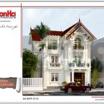 Thiết kế kiến trúc biệt thự Pháp mái ngói đỏ tại Hưng Yên sh btp 0115