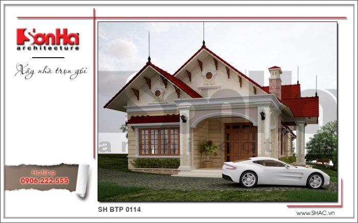 Mẫu Thiết kế kiến trúc biệt thự vườn tại Hải Phòng sh btp 0114
