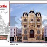 Thiết kế kiến trúc biệt thự lâu đài tại Hà Nội sh btld 0030