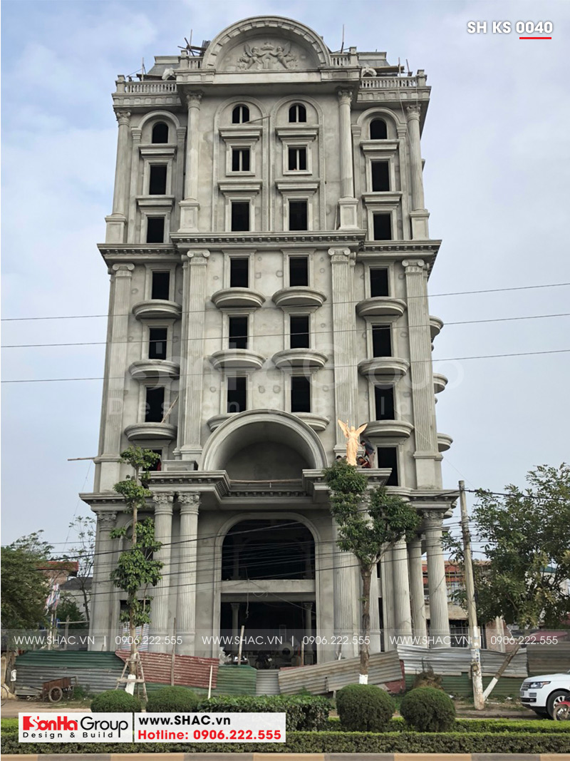 Mẫu thiết kế khách sạn kiến trúc Pháp tiêu chuẩn 4 sao sang trọng tại Vĩnh Yên – SH KS 0040 23