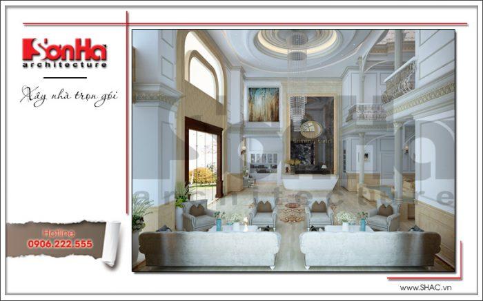 2 Mẫu nội thất sảnh lễ tân khách sạn tại vĩnh yên sh ks 0040