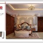 Mẫu Thiết kế nội thất phòng ngủ biệt thự lâu đài tại An Giang sh btld 0029