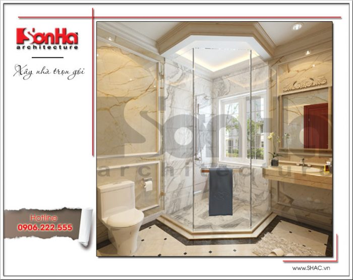 Mẫu Thiết kế phòng tắm biệt thự lâu đài tại Hà Nội sh btld 0030
