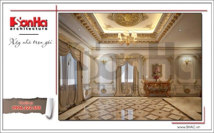 Thiết kế phòng thay đồ biệt thự cổ điển Pháp tại Quảng Ninh sh btp 0113