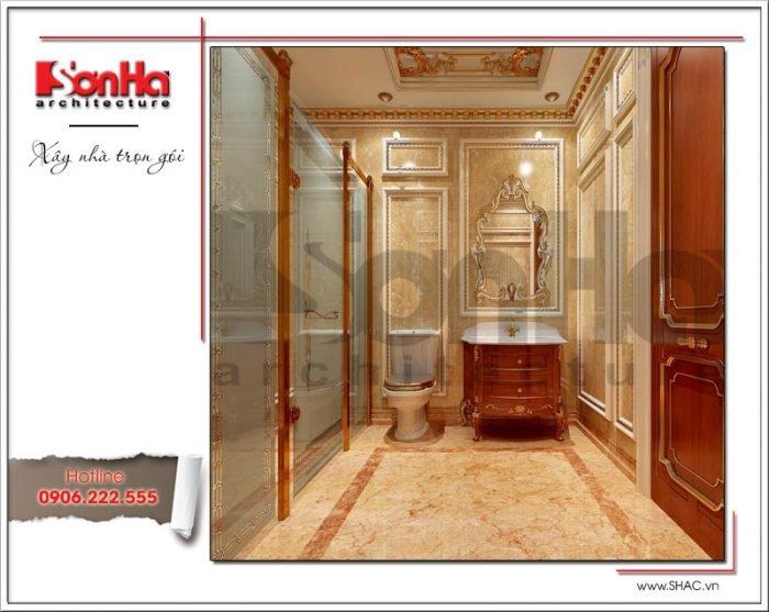 Thiết kế wc biệt thự cổ điển Pháp tại Quảng Ninh sh btp 0113