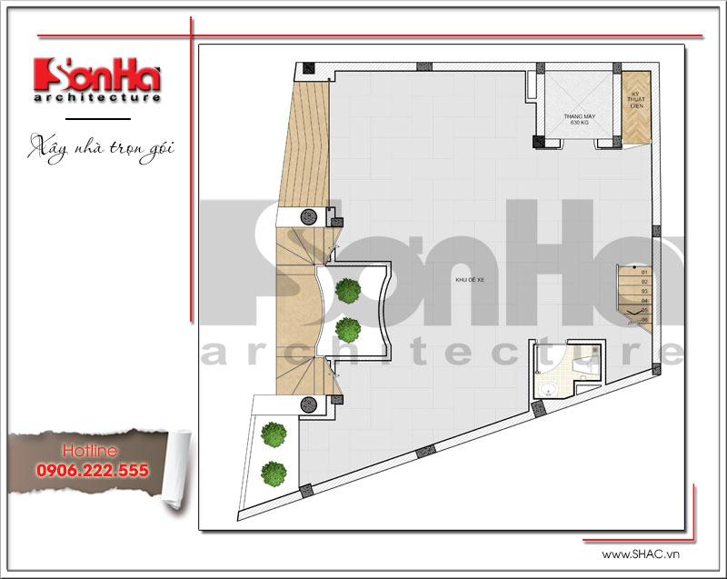 Khám phá mẫu thiết kế tòa nhà văn phòng hiện đại độc đáo tại Hà Nội – SH VP 0030 3