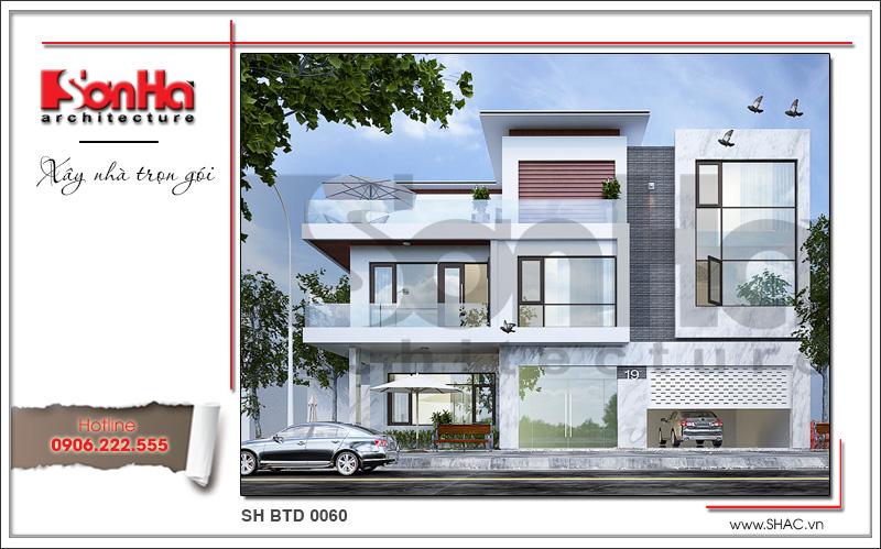Mẫu thiết kế biệt thự 3 tầng kiến trúc hiện đại đẹp tại Lạng Sơn – SH BTD 0060 2