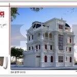 Thiết kế biệt thự cổ điển Pháp tại Quảng Ninh sh btp 0113