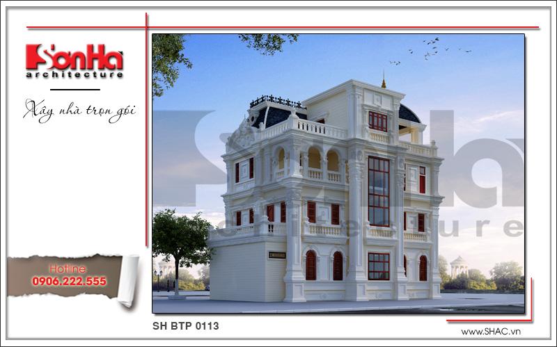 Mẫu biệt thự lâu đài cổ điển 4 tầng uy nghi và đẳng cấp tại Quảng Ninh – SH BTP 0113 3