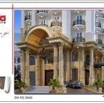 Thiết kế kiến trúc khách sạn kiến trúc Pháp tại Vĩnh Phúc sh ks 0040