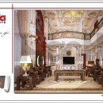 Thiết kế phòng khách biệt thự lâu đài tại Hà Nội sh btld 0030