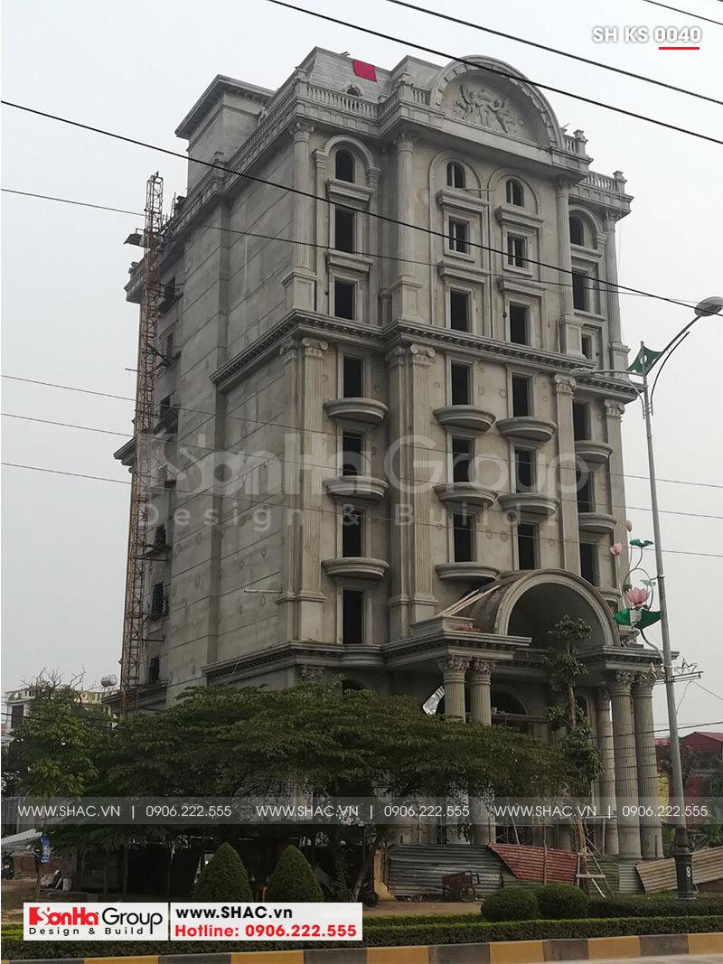 Mẫu thiết kế khách sạn kiến trúc Pháp tiêu chuẩn 4 sao sang trọng tại Vĩnh Yên – SH KS 0040 24