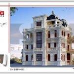 Mẫu Thiết kế biệt thự cổ điển Pháp tại Quảng Ninh sh btp 0113