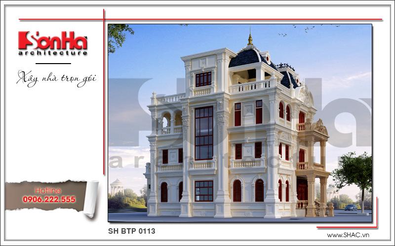 Mẫu biệt thự lâu đài cổ điển 4 tầng uy nghi và đẳng cấp tại Quảng Ninh – SH BTP 0113 4