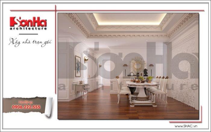 thiết kế nội thất phòng bếp ăn cổ điển châu âu