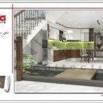 Mẫu thiết kế phòng bếp biệt thự hiện đại tại Lạng Sơn sh btd 0060