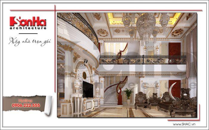 Mẫu thiết kế phòng khách biệt thự lâu đài tại Hà Nội sh btld 0030
