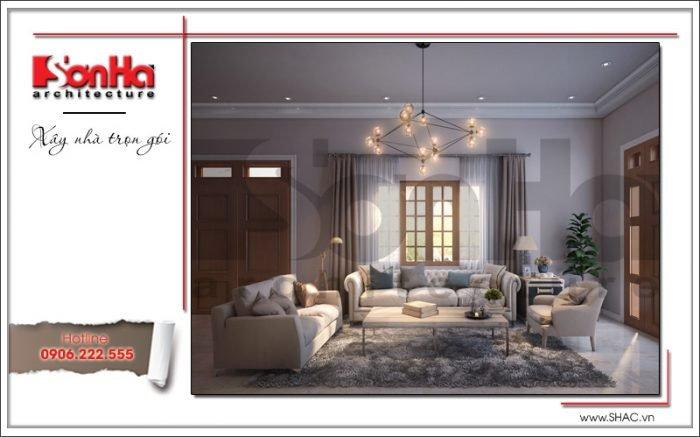 Thiết kế nội thất phòng khách biệt thự vườn tại Hải Phòng sh btp 0114