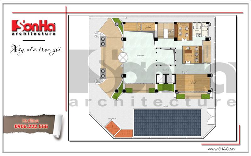Mẫu thiết kế khách sạn kiến trúc Pháp tiêu chuẩn 4 sao sang trọng tại Vĩnh Yên – SH KS 0040 15