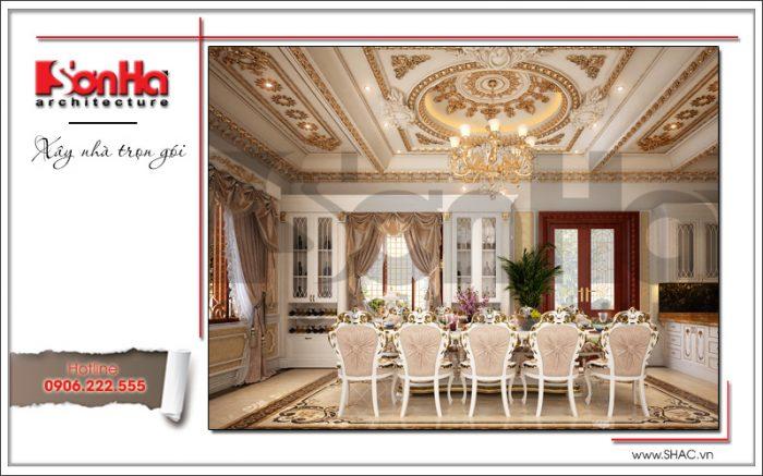 thiết kế phòng bếp biệt thự lâu đài tại Hà Nội sh btld 0030