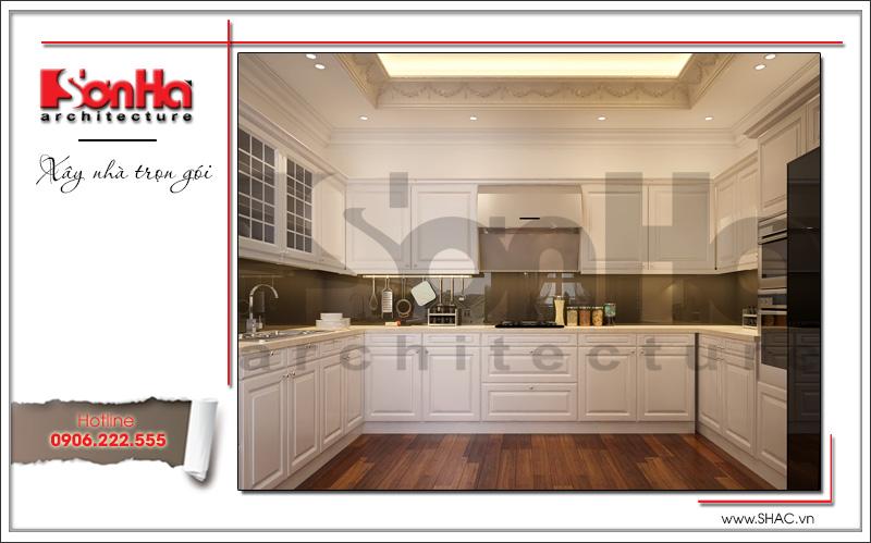 thiết kế nội thất tủ bếp của căn hộ cao cấp