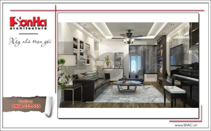 Mẫu Thiết kế phòng khách nhà ống hiện đại tại Hà Nội sh nod 0175