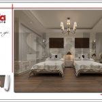 5 Thiết kế nội thất phòng ngủ đôi khách sạn tại vĩnh yên sh ks 0040