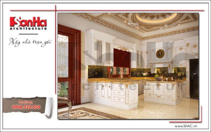 Mẫu thiết kế phòng bếp biệt thự lâu đài tại Hà Nội sh btld 0030