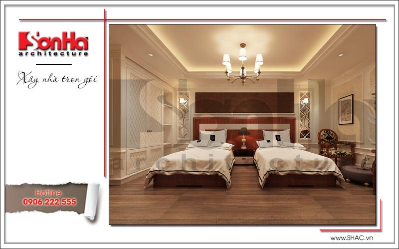 Mẫu thiết kế khách sạn kiến trúc Pháp tiêu chuẩn 4 sao sang trọng tại Vĩnh Yên – SH KS 0040 9