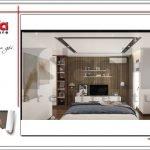 Thiết kế phòng ngủ bố mẹ biệt thự hiện đại tại Lạng Sơn sh btd 0060