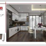 Thiết kế phòng bếp ăn nhà ống hiện đại tại Hà Nội sh nod 0175