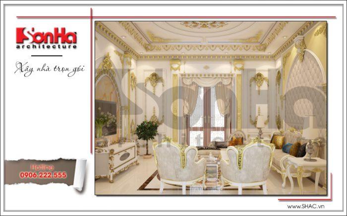 Thiết kế phòng sinh hoạt chung biệt thự lâu đài tại Hà Nội sh btld 0030