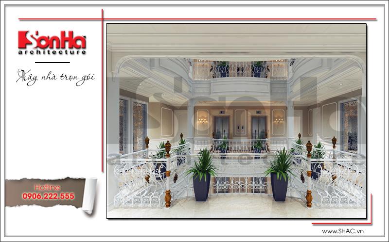 Mẫu thiết kế khách sạn kiến trúc Pháp tiêu chuẩn 4 sao sang trọng tại Vĩnh Yên – SH KS 0040 10