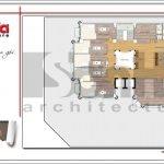 Mặt bằng công năng tầng 7 khách sạn kiến trúc Pháp tại Vĩnh Phúc sh ks 0040