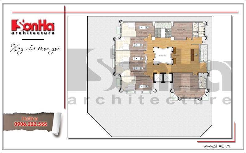 Mẫu thiết kế khách sạn kiến trúc Pháp tiêu chuẩn 4 sao sang trọng tại Vĩnh Yên – SH KS 0040 19