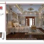 Nội thất phòng ngủ biệt thự cổ điển Pháp tại Quảng Ninh sh btp 0113