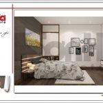 Thiết kế nội thất phòng ngủ biệt thự hiện đại tại Lạng Sơn sh btd 0060