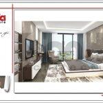 Mẫu Thiết kế phòng ngủ nhà ống hiện đại tại Hà Nội sh nod 0175