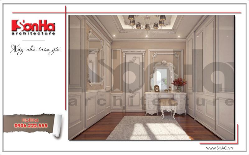 mẫu phòng thay đồ của phòng ngủ căn hộ chung cư cao cấp