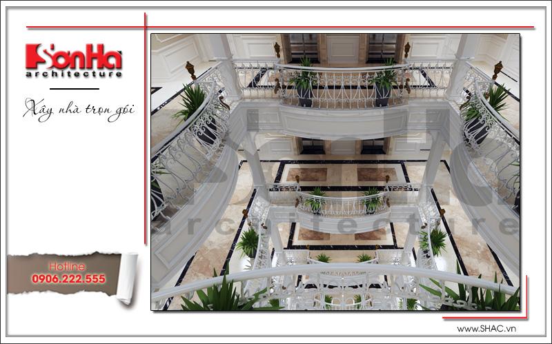 Mẫu thiết kế khách sạn kiến trúc Pháp tiêu chuẩn 4 sao sang trọng tại Vĩnh Yên – SH KS 0040 11