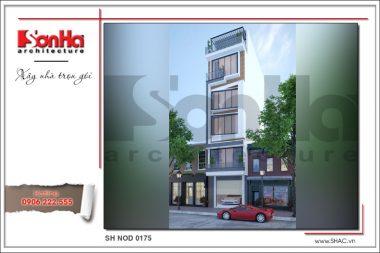 BÌA Thiết kế kiến trúc nhà ống hiện đại tại Hà Nội sh nod 0175